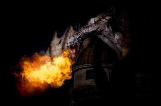 dragon photo from diagon alley - Wizarding World of Harry Potter - Universal Studios