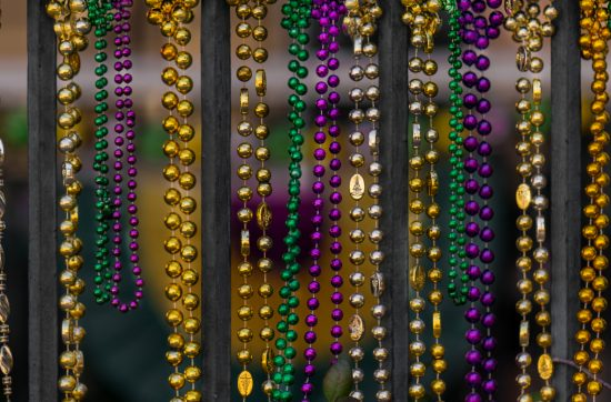 Hanging Yellow Green Purple NOLA Beads - Kozak Moments